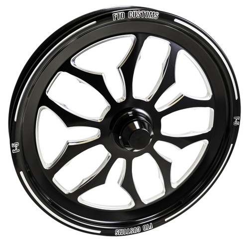 F5 Dragster Spindle Mount Front wheels - Black Contrast