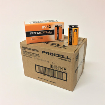 Duracell Procell 9 Volt Alkaline Batteries - Case of 72