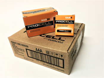 Duracell Procell AAA Alkaline Batteries - Case of 144