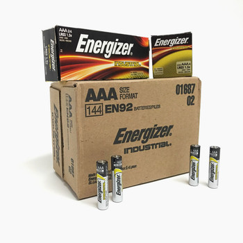 Energizer Industrial AAA Alkaline Batteries - Box of 24
