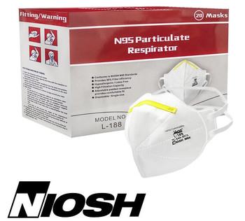 Harley NIOSH N95 Particulate Respirator Mask L-188 20 per box