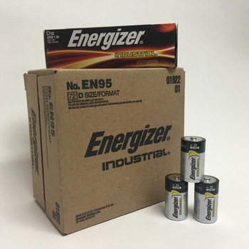 Energizer Industrial D Alkaline Batteries - Case of 72