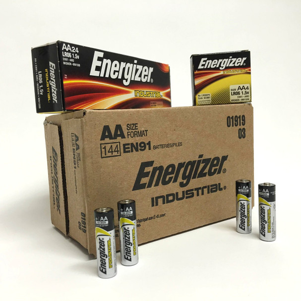 Energizer Industrial AA Batteries - Case of 144