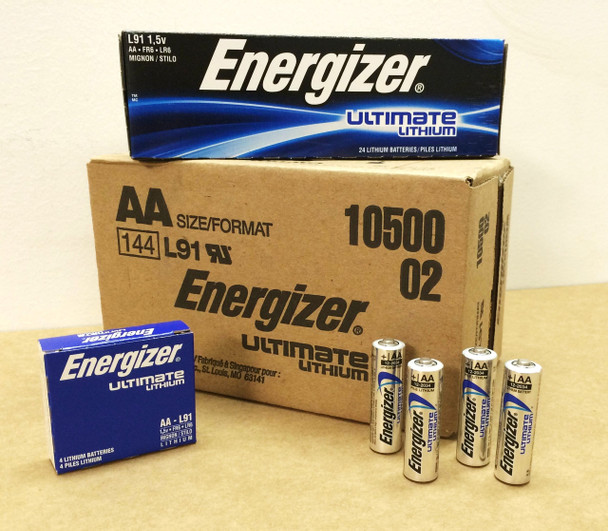 Energizer Ultimate Lithium AA Batteries - Box of 144