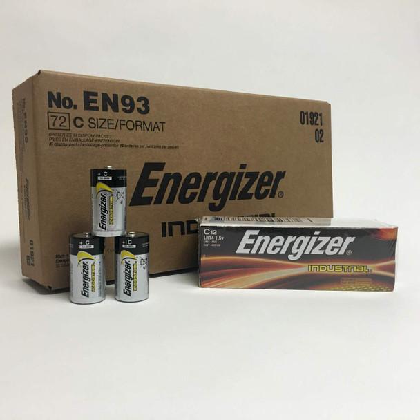 Energizer Industrial C Alkaline Batteries - Case of 72