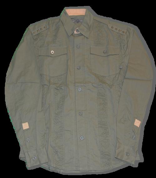 Emblem Button Down Shirt (LS)