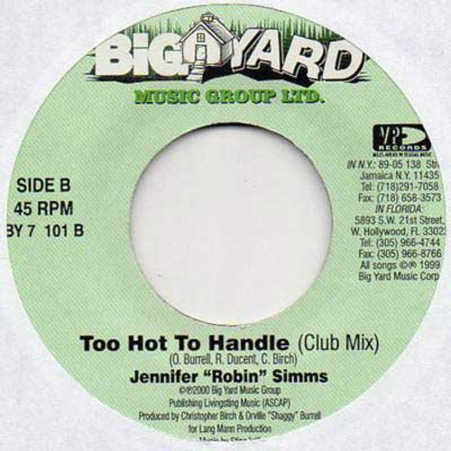 "Too Hot To Handle ( Club Mix ) - Jennifer ""robin"" Simms (12 Inch Vinyl)"
