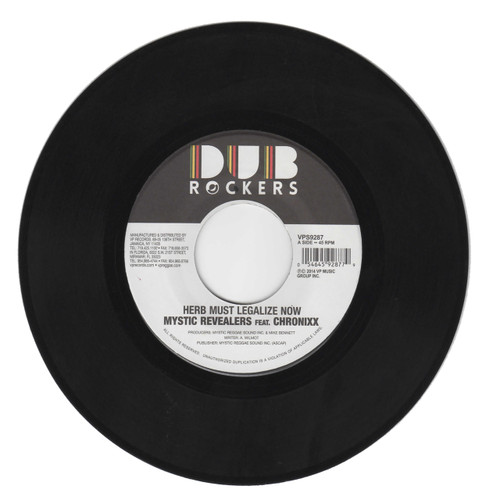 Herb Must Legalize Now - Mystic Revealers Feat.chronixx (7 Inch Vinyl)