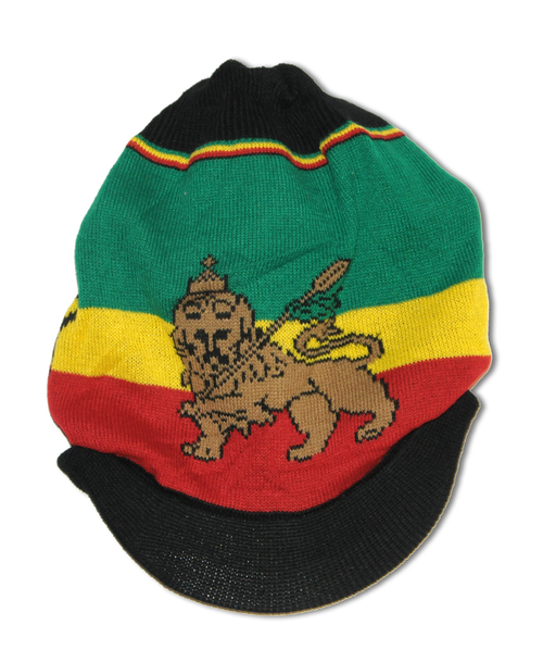 Lion Of Judah Black - Knitted Tam