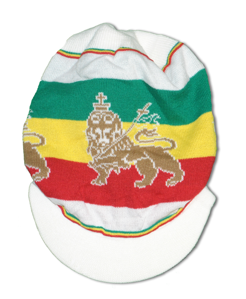 Ny-51 Lion Of Judah White - Knitted Tam