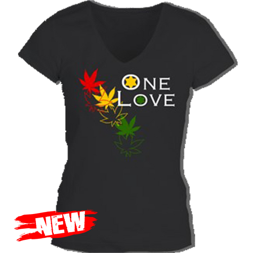 One Love Leaf Tee Ladies