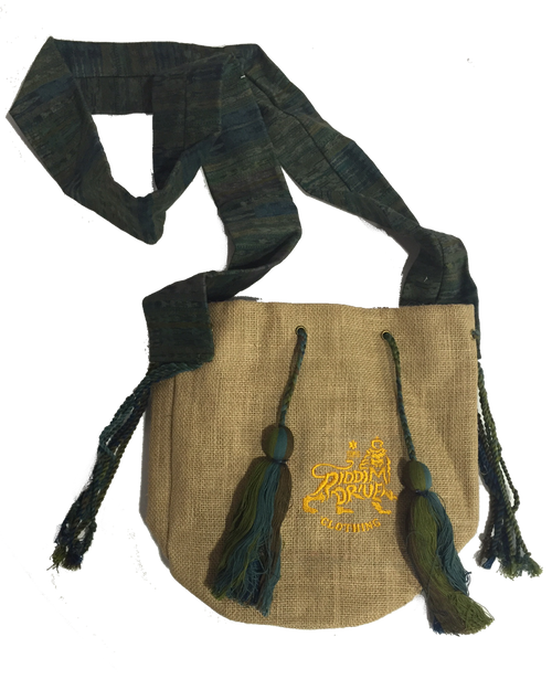 Jute Bag Green W/rd Logo Cocoon Bag