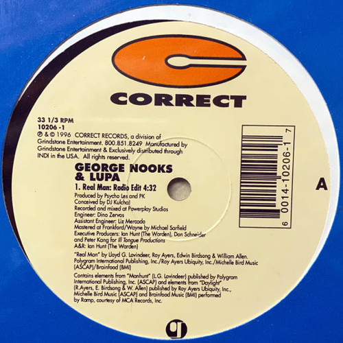 Real Man - George Nooks & Lupa (12 Inch Vinyl)