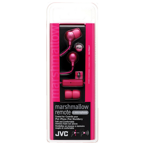 Jvc Pink Marshmallow Earphone W/ Mic & Remote - Marshmallow