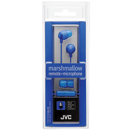 Jvc Blue Marshmallow Earphone W/ Mic & Remote - Marshmallow