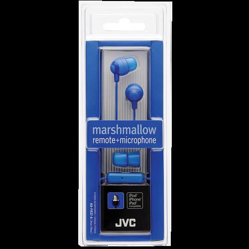 Jvc Blue Marshmallow Earphone W/ Mic & Remote - Marshmallow
