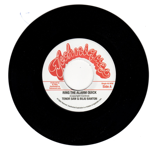 Ring The Alarm Quick - Tenor Saw & Buju Banton (7 Inch Vinyl)