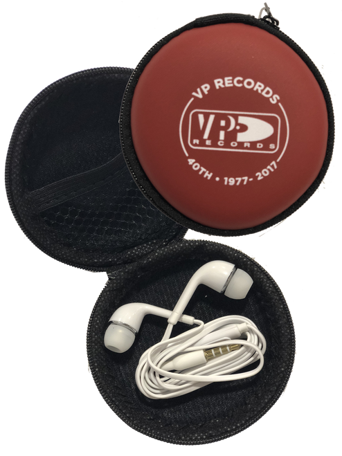 Earphones W/ Microphone & Case - Headphones
