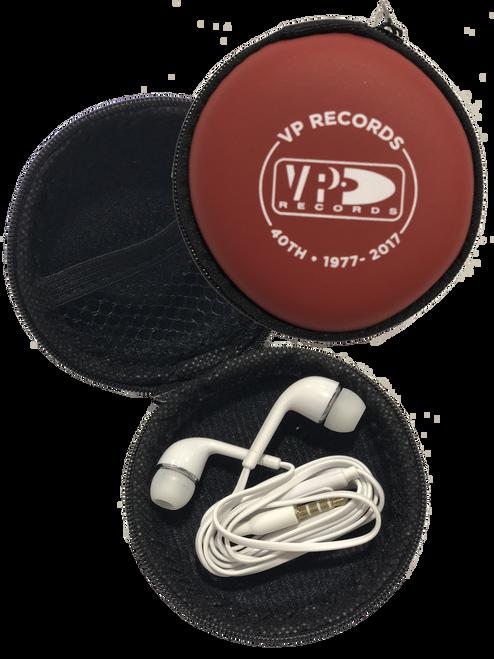 Earphones W/ Microphone & Case - Headphones