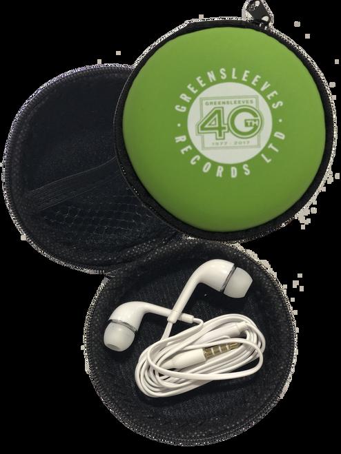 Earphones W/ Mic & Case - Headphones