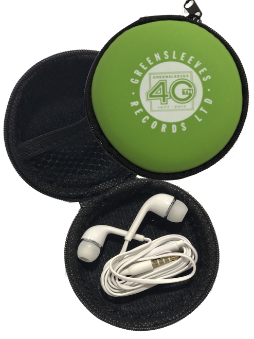 Earphones W/ Mic & Case - Headphones