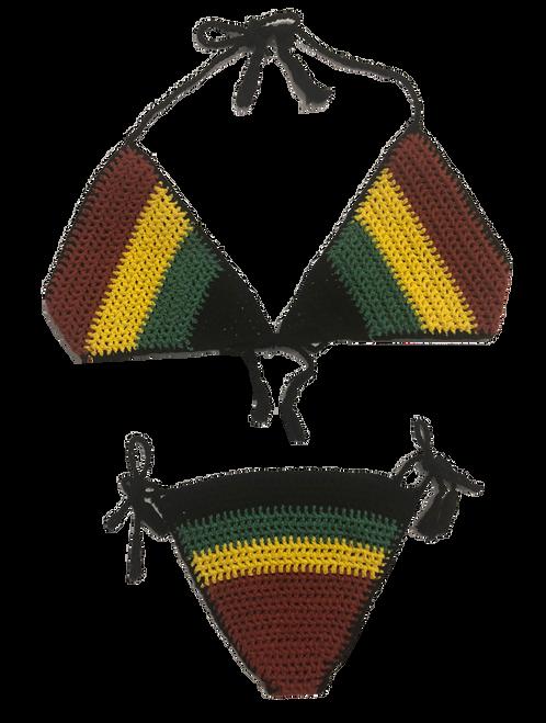 Rasta Crochet Bikini - Swimwear
