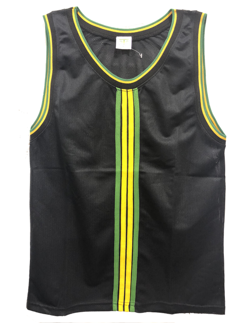 Men Vest- Jamaica Stripes