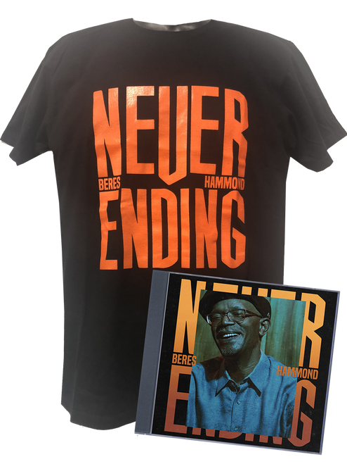 Beres Hammond Never Ending Tee & CD Bundle