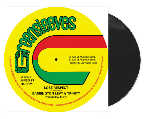 Lose Respect C/w Since You're Gone - Barrington Levy & Trinity C/w Roman Stewart & Tr (12 Inch Vinyl)
