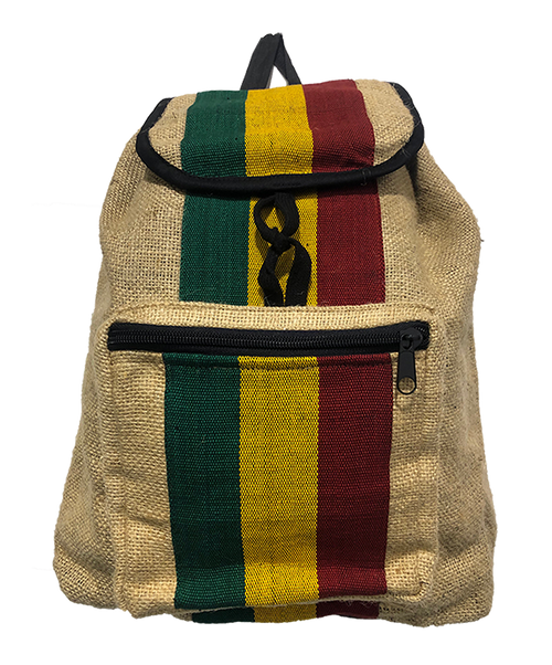 Jute Rasta Backpack Vertical Stripe