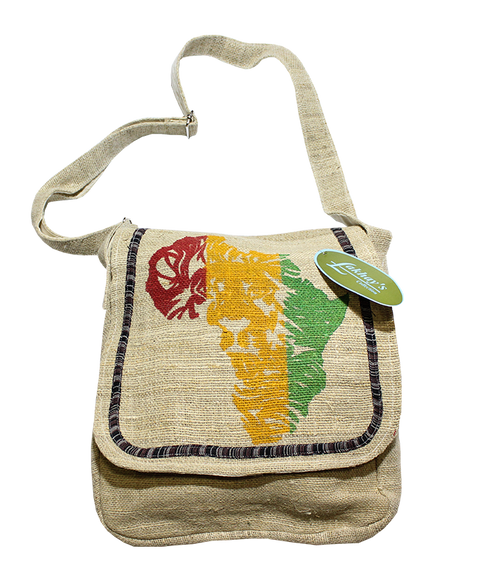 African Hemp Messenger Bag
