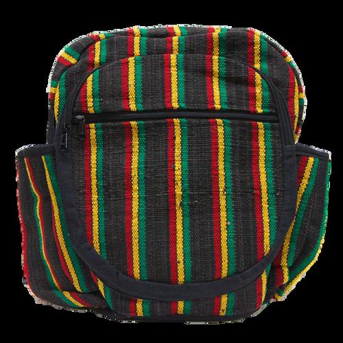 Striped Rasta Backpack - Black