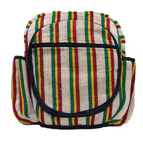 Striped Rasta Backpack - Off White