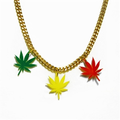 Rasta Ganja Leaf Chain - Women