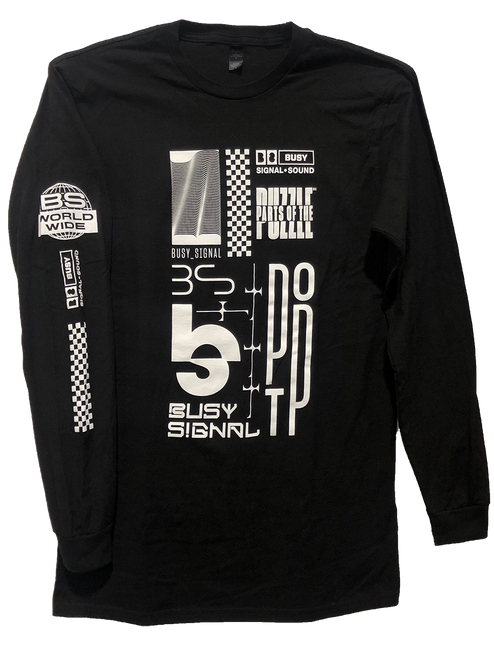Busy Logo Scatter Long Sleeve