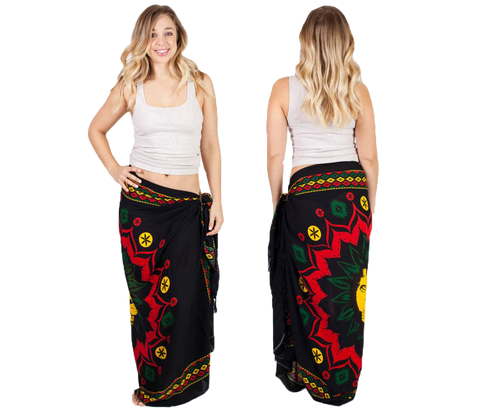 Tribal Rasta Lion Head Sarong