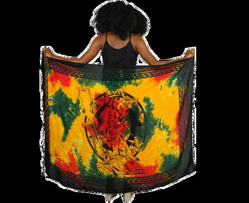 Tie Dye Lion Of Judah Rasta Sarong