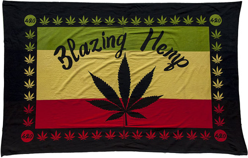 Blazing Hemp Rasta Tapestry