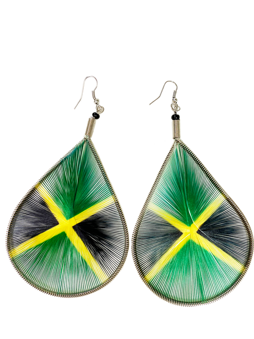 Jamaica Teardrop Thread - Earrings