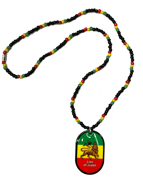 Rasta Necklace  - Lion Of Judah
