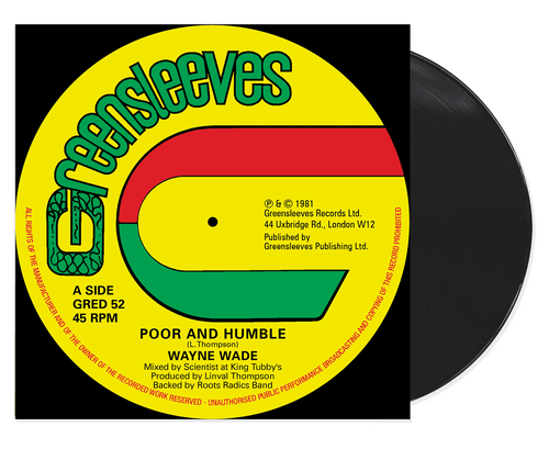 Poor And Humble - Wayne Wade (12 Inch Vinyl)