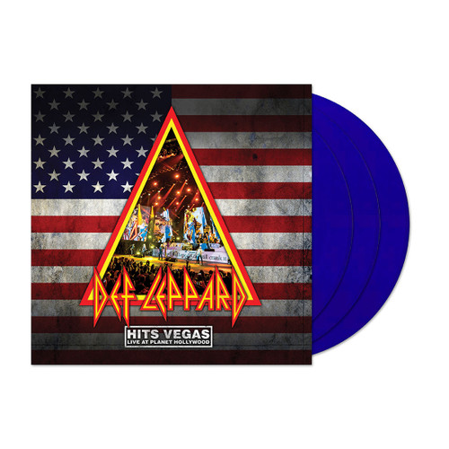 Hits Vegas Ltd 3lp Translucent Blue - Def Leppard  (LP)