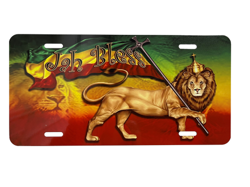Jah Bless - License Plate