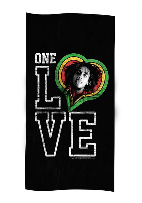 One Love Smile Towel Black - Unisex