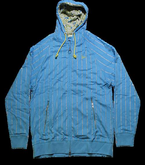 Zip Hoodie Pinstripe Jacket