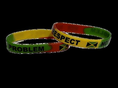 Nuff Respect /No Problem Silicone Bracelet