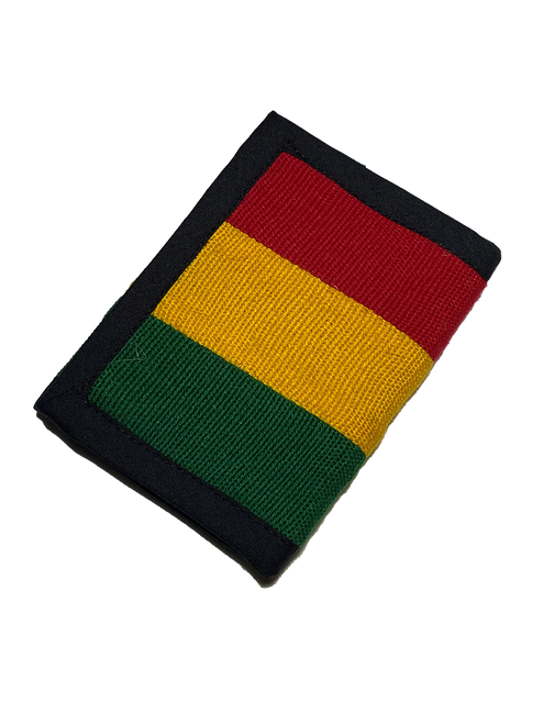 Tri-fold Rasta Wallet
