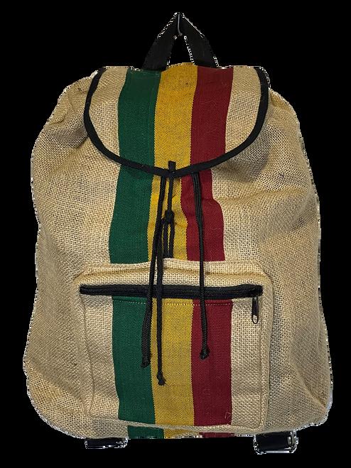 Jute Rasta Stripe Backpack