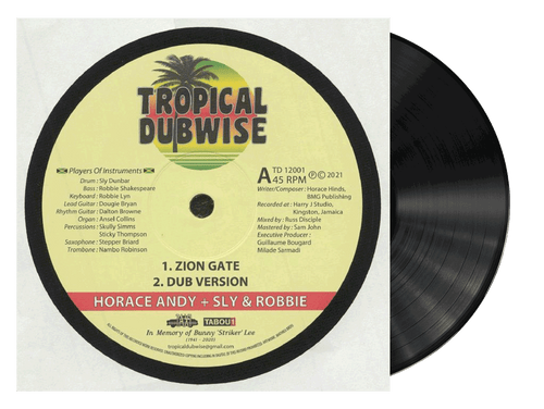 Zion Gate - Horace Andy + Sly & Robbie (12 Inch Vinyl)