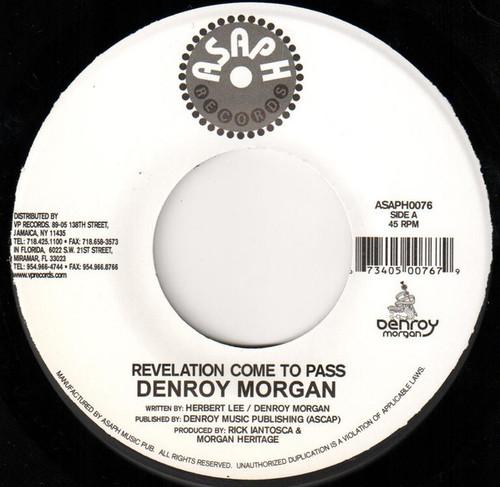 Revelation Come To Pass - Denroy Morgan (7 Inch Vinyl)